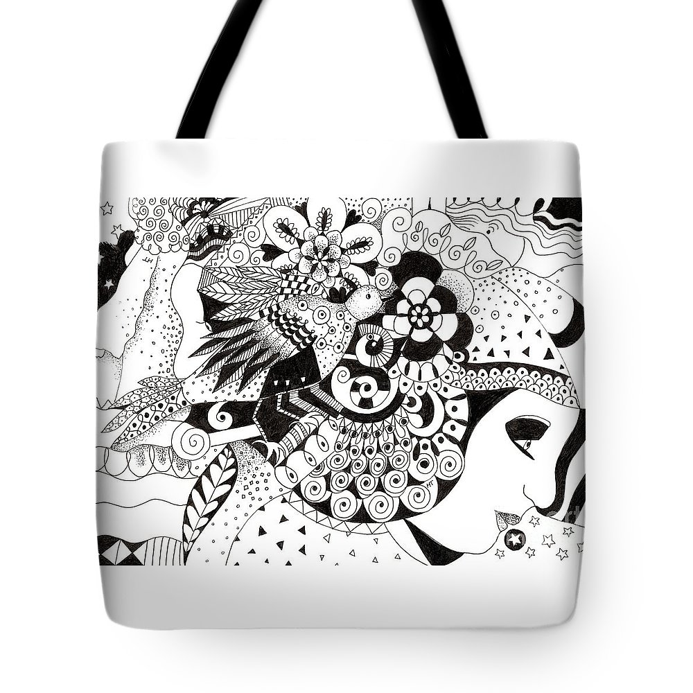 Organic Abstraction Drawings Tote Bags