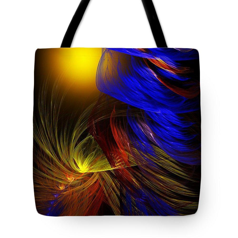 Fine Art Tote Bag featuring the digital art Celebrate by David Lane