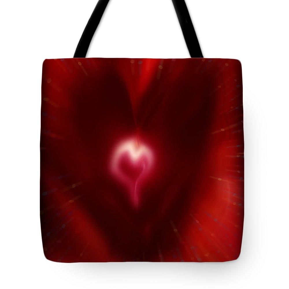 Hearts Tote Bag featuring the digital art Celebrate Love by Linda Sannuti