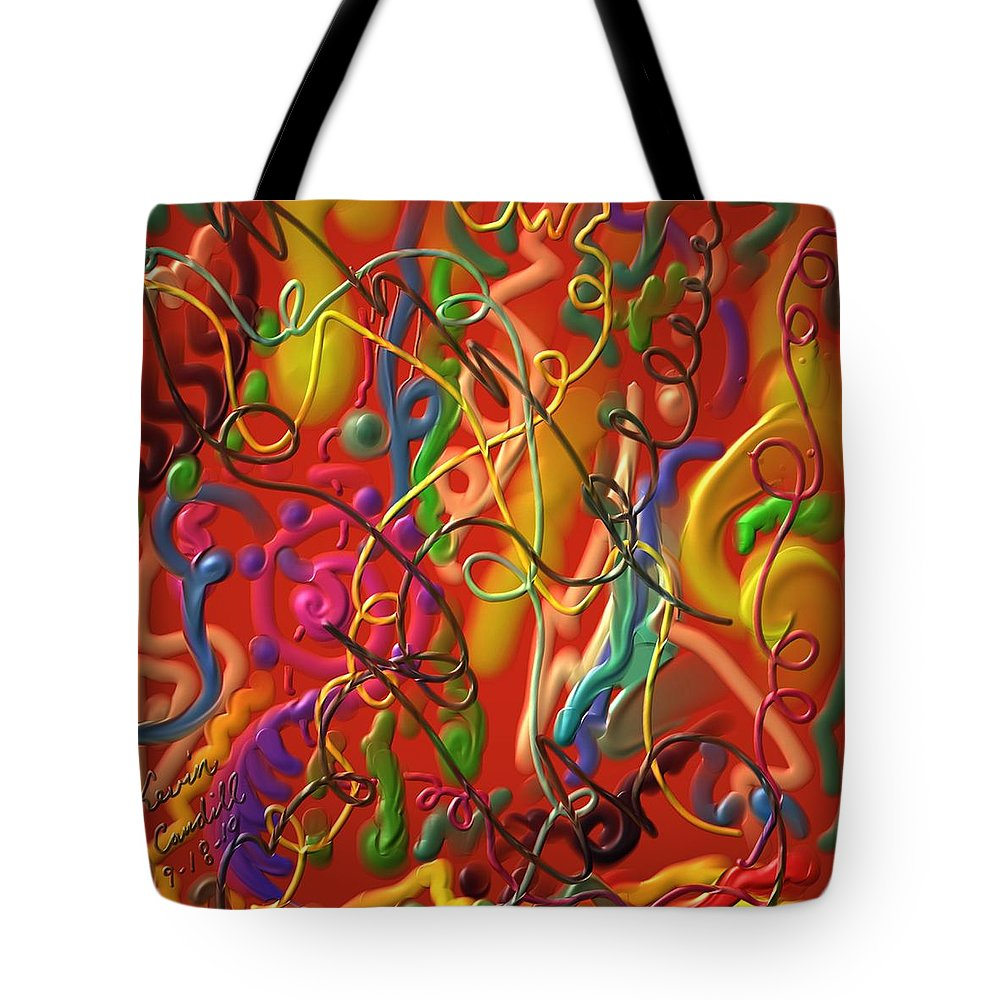 Abstract Tote Bag featuring the painting Celebrate The Moment by Kevin Caudill