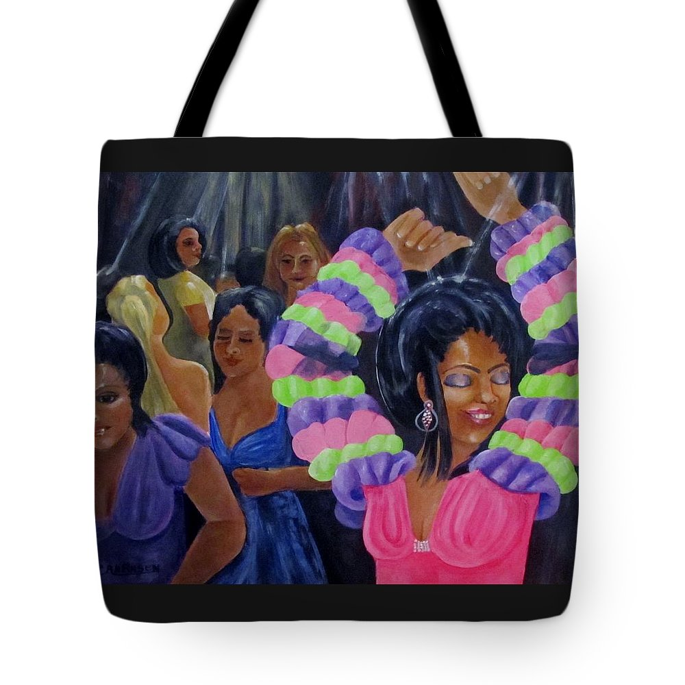 Dancers Tote Bag featuring the painting Celebration by Carol Allen Anfinsen