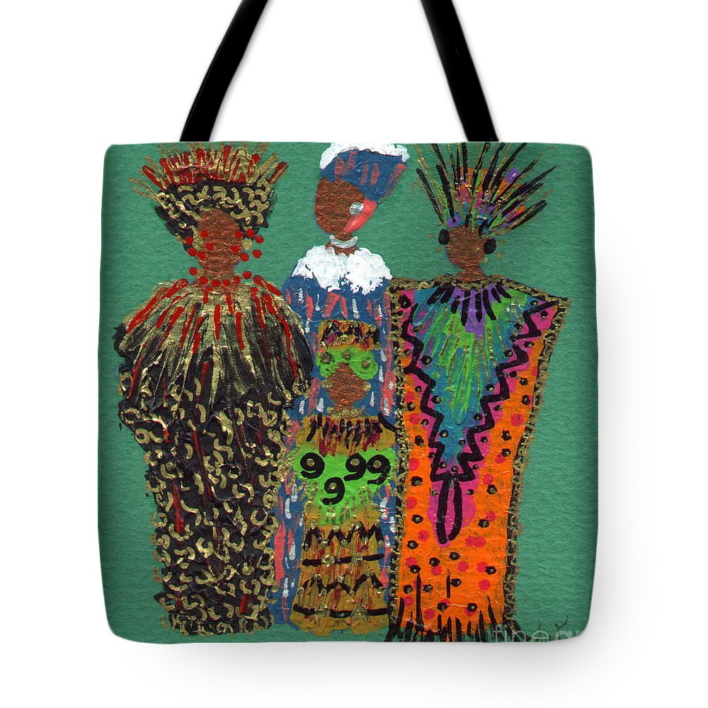 Women Tote Bag featuring the mixed media Celebration II by Angela L Walker