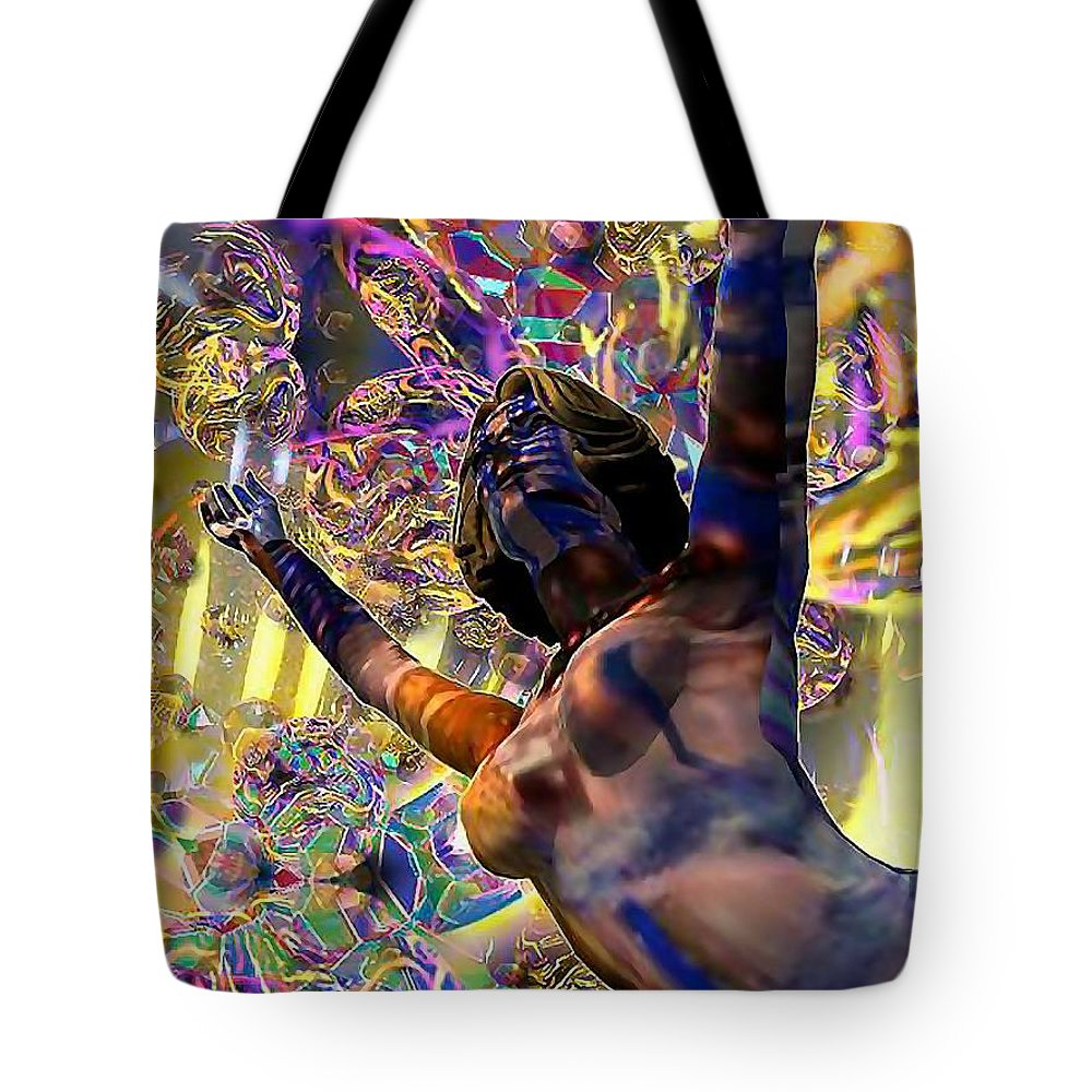 Woman Tote Bag featuring the digital art Celebration Spirit by Dave Martsolf