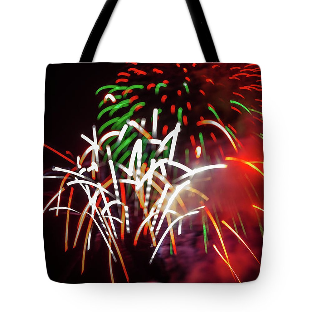 Fireworks Tote Bag featuring the photograph Celebration Through The Lens Baby by Scott Campbell