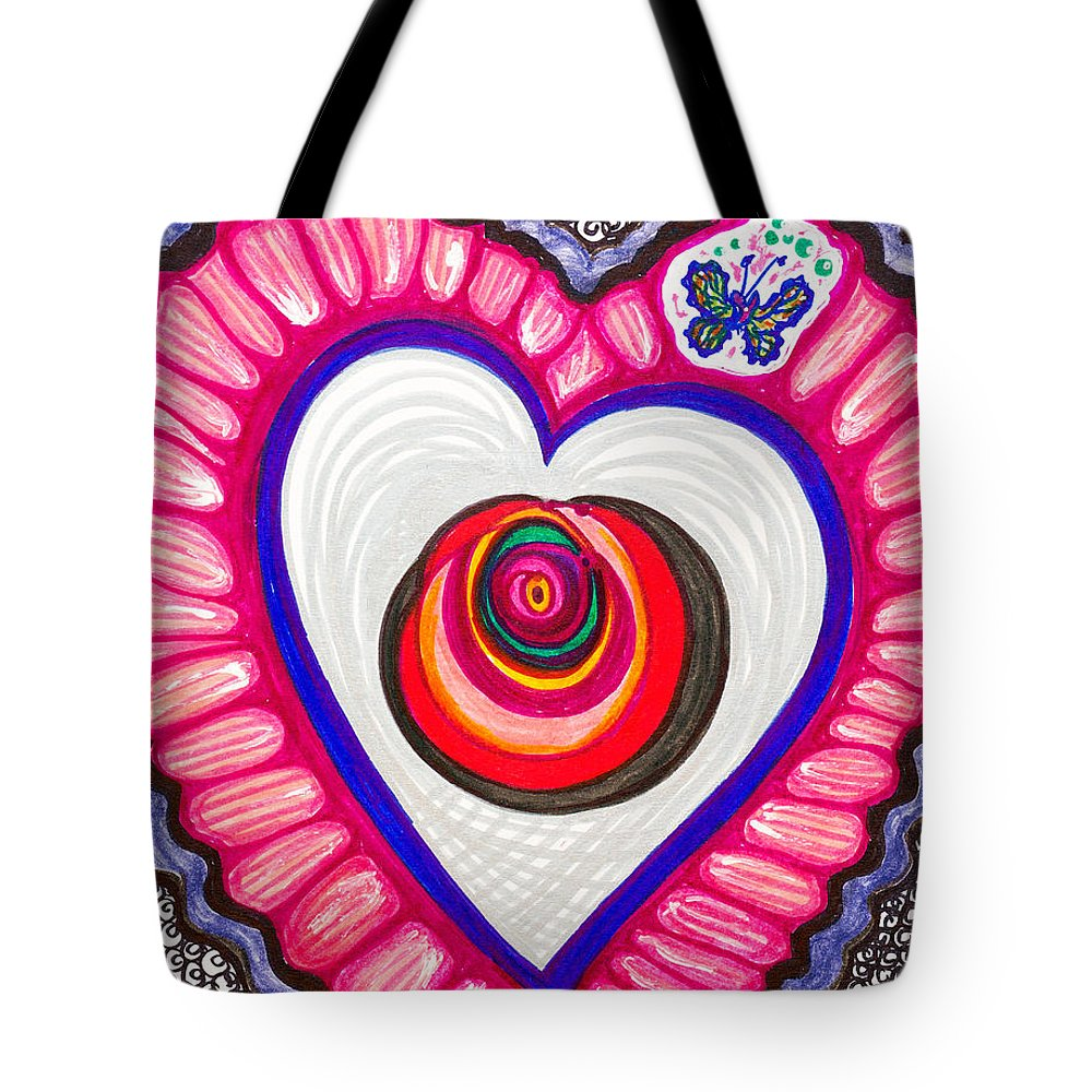 Heart Tote Bag featuring the painting Celebration - Viii by Laurel Rosenberg