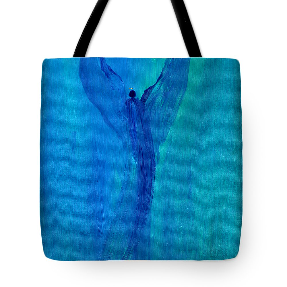 Celestialangel Tote Bag featuring the painting Celestial Angel by Robin Maria Pedrero