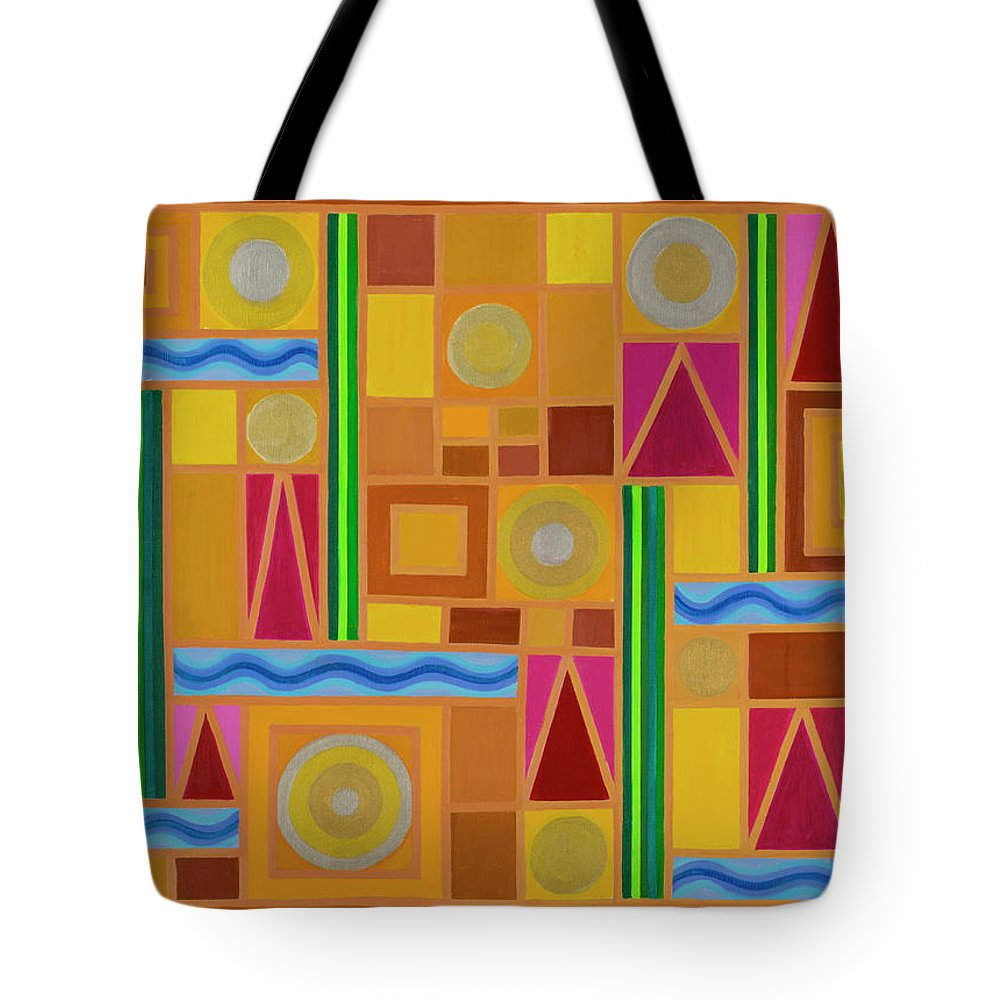 Celestial Tote Bag featuring the painting Celestial Five Elements by Adamantini Feng shui