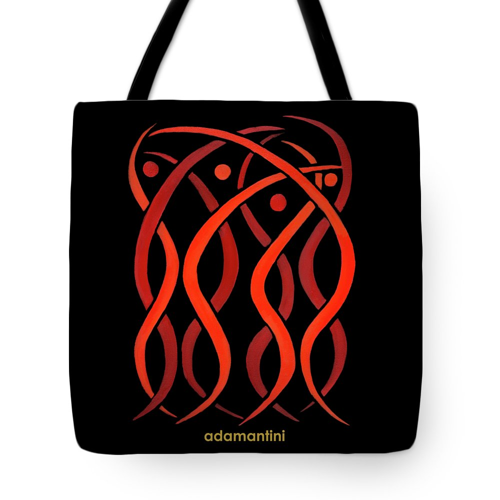 Celestial Flames Tote Bag featuring the painting Celestial Flames by Adamantini Feng shui