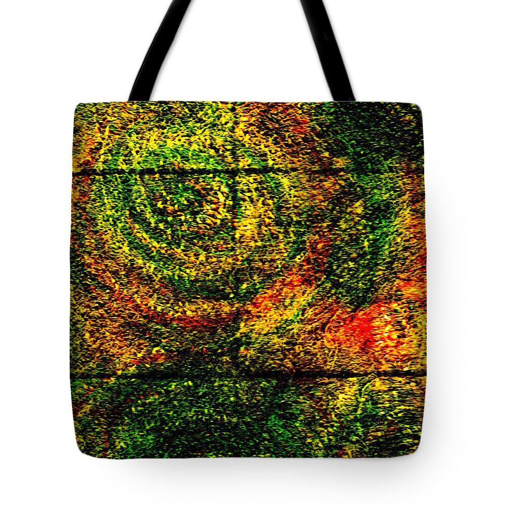 Abstract Tote Bag featuring the painting Celestial Grid by Wayne Potrafka