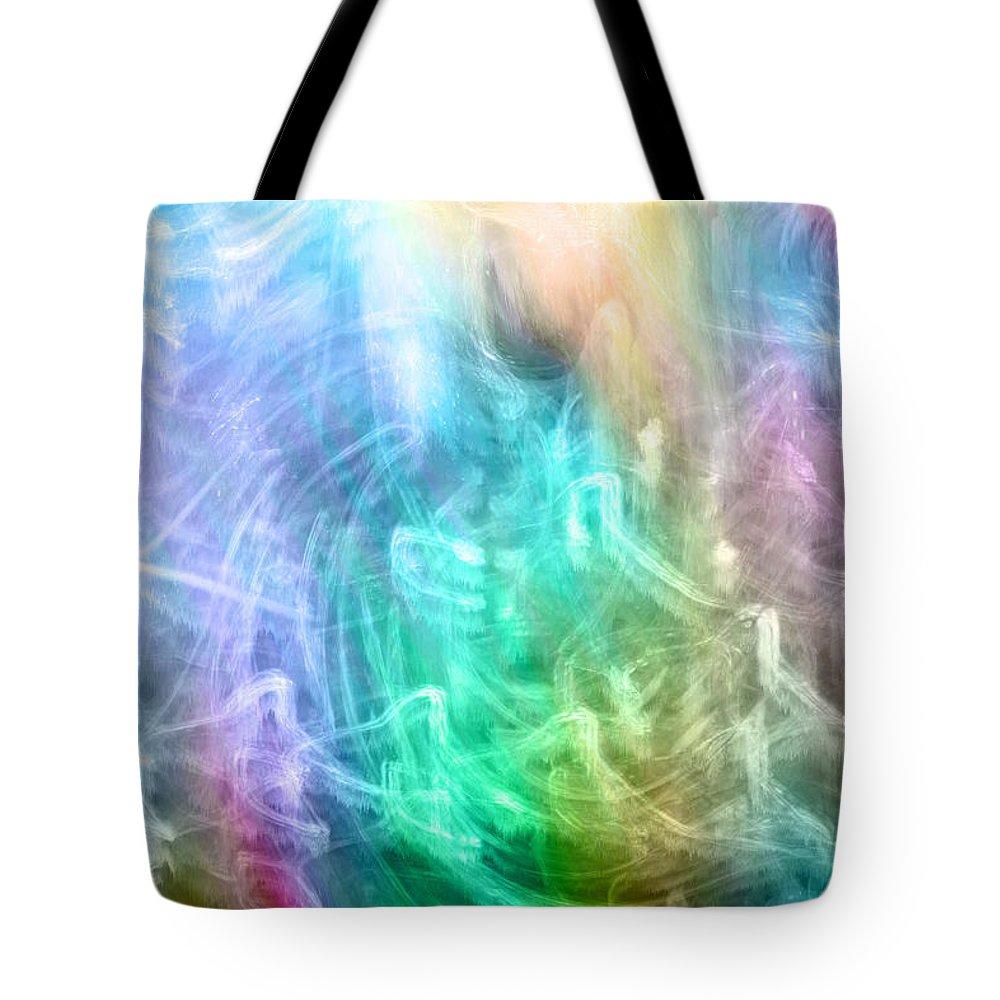 Digital Art Tote Bag featuring the digital art Celestial Light by Linda Sannuti
