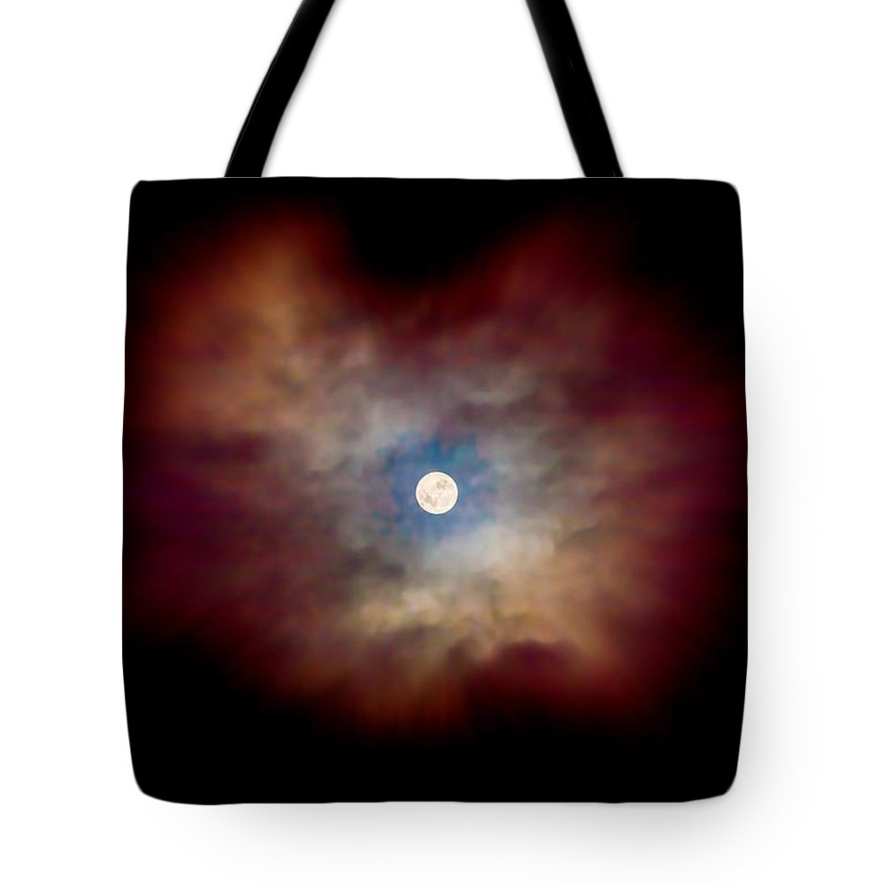 Celestial Tote Bag featuring the photograph Celestial Moon by Az Jackson