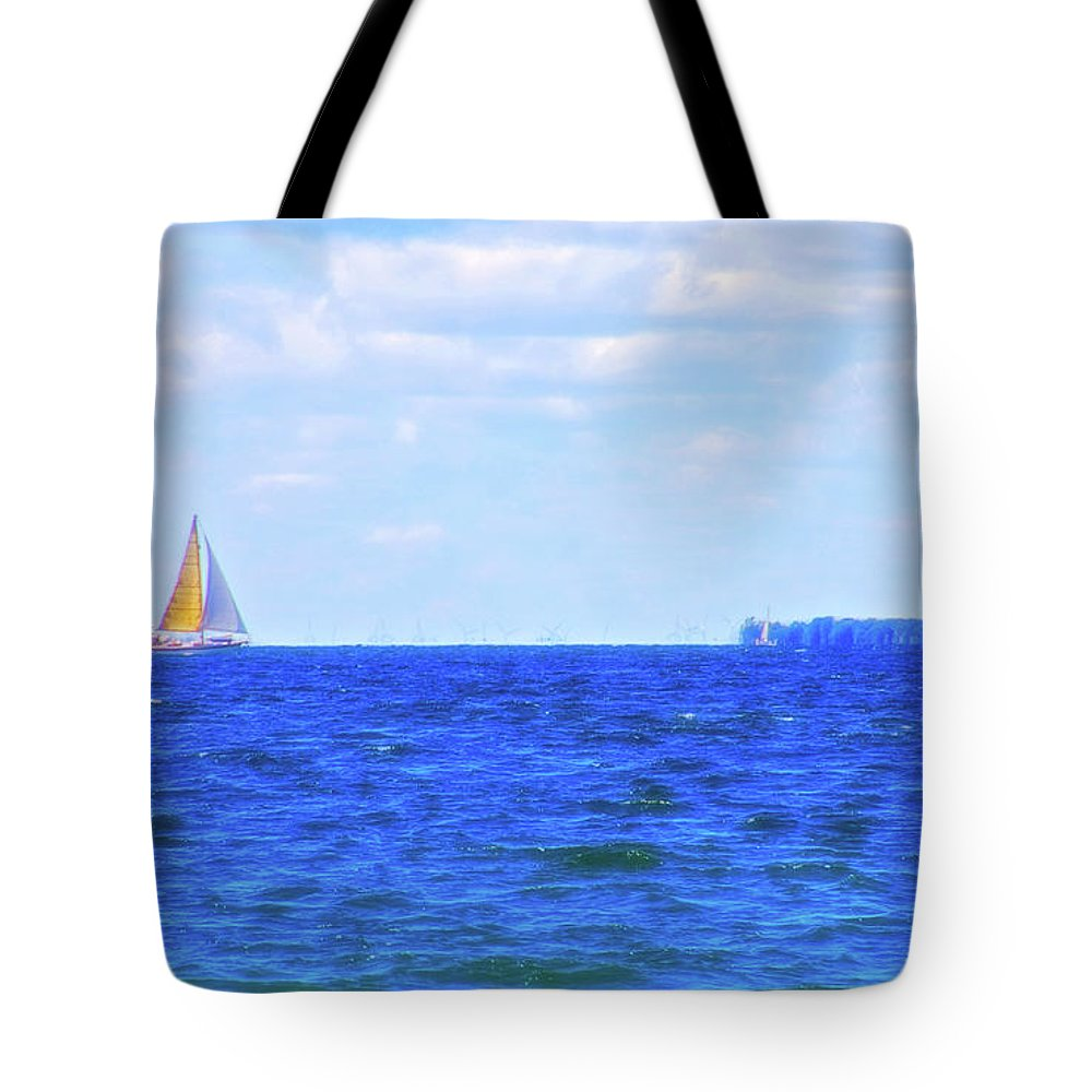 Sail Tote Bag featuring the photograph Celestial Skies Sailing The Blue by Aimee L Maher ALM GALLERY