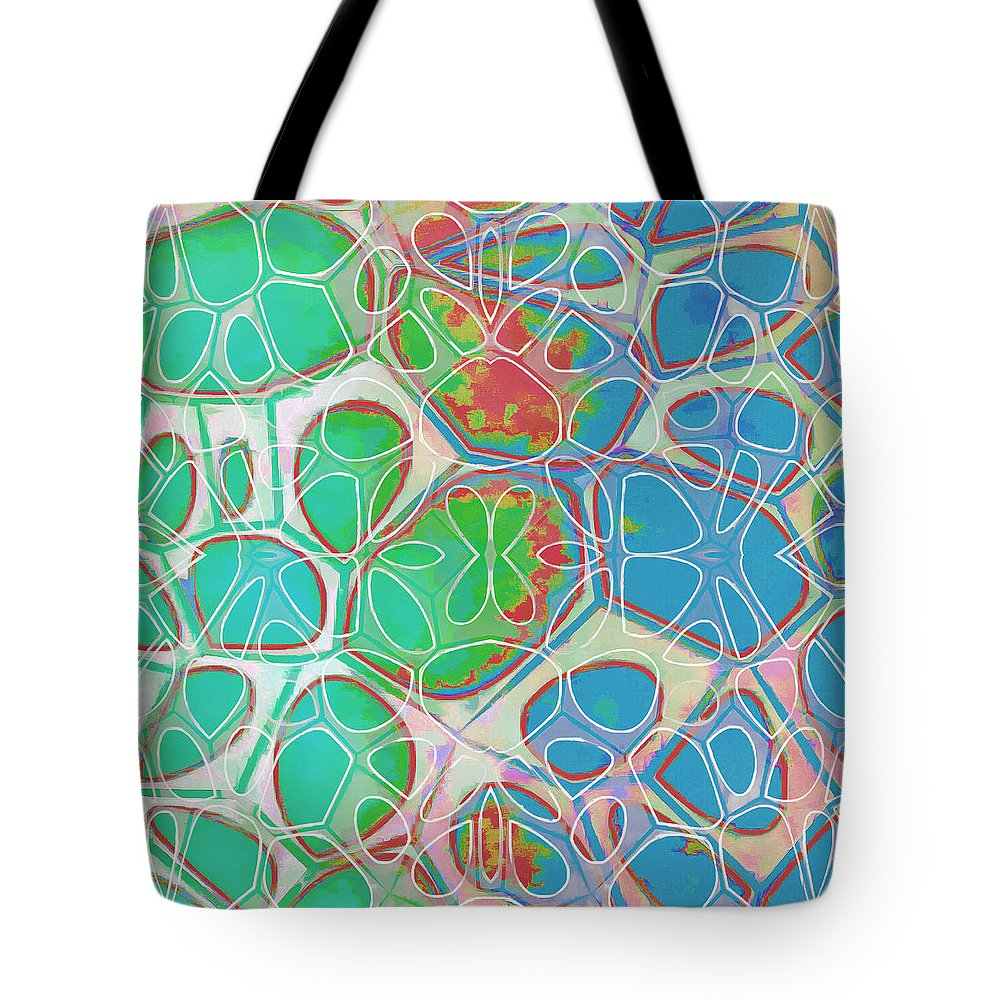 Painting Tote Bag featuring the painting Cell Abstract 10 by Edward Fielding