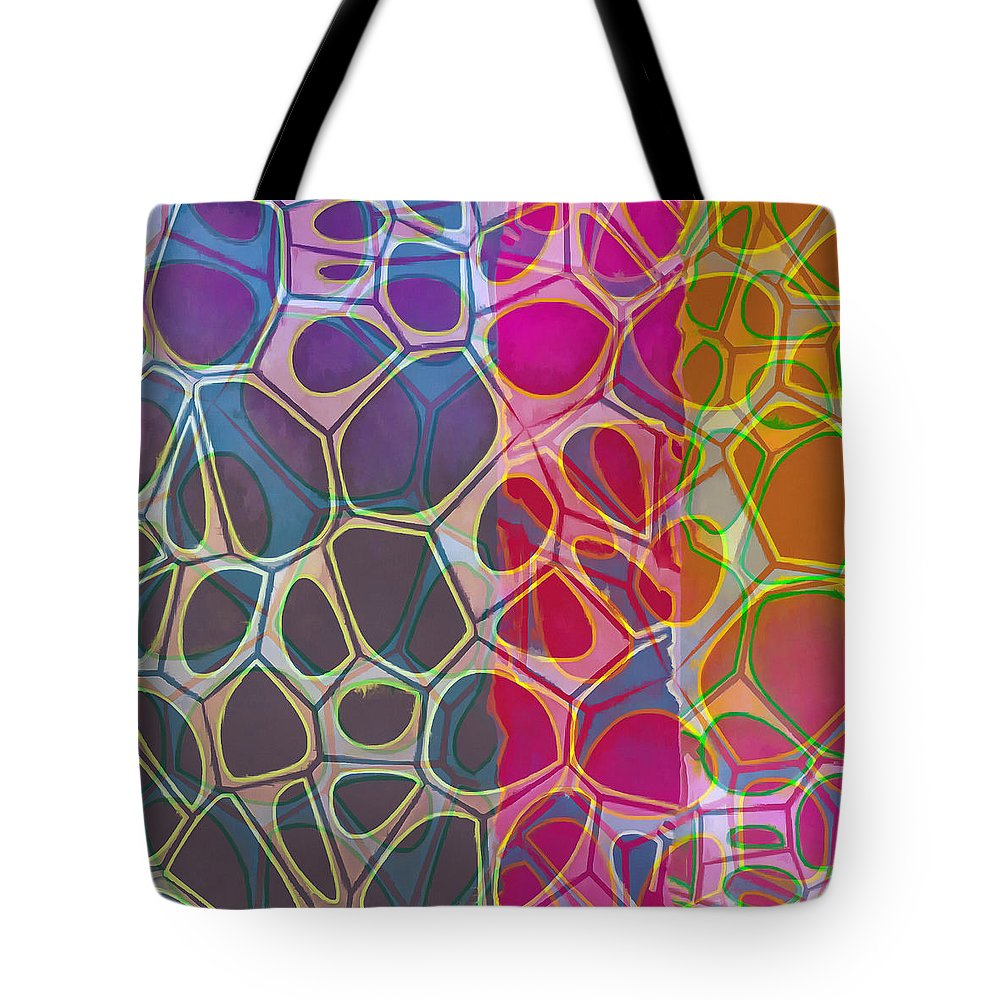 Painting Tote Bag featuring the painting Cell Abstract 11 by Edward Fielding