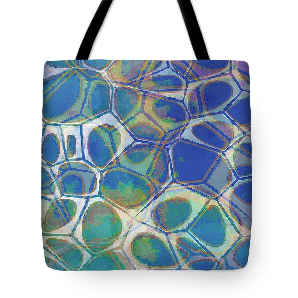 Painting Tote Bag featuring the painting Cell Abstract 13 by Edward Fielding