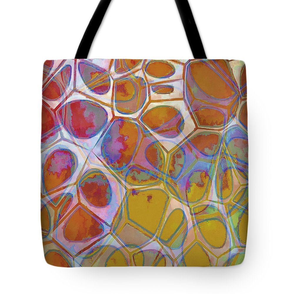 Painting Tote Bag featuring the painting Cell Abstract 14 by Edward Fielding