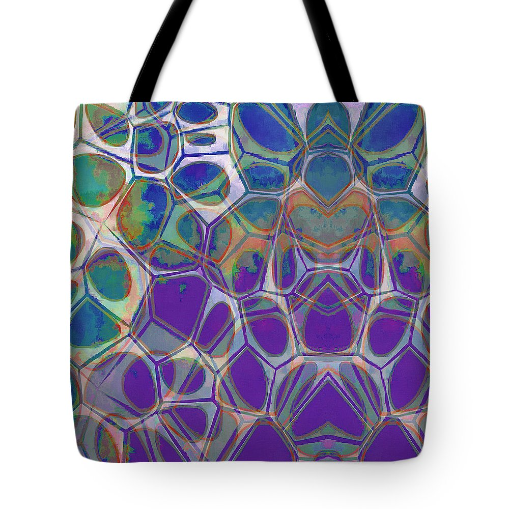 Painting Tote Bag featuring the painting Cell Abstract 17 by Edward Fielding