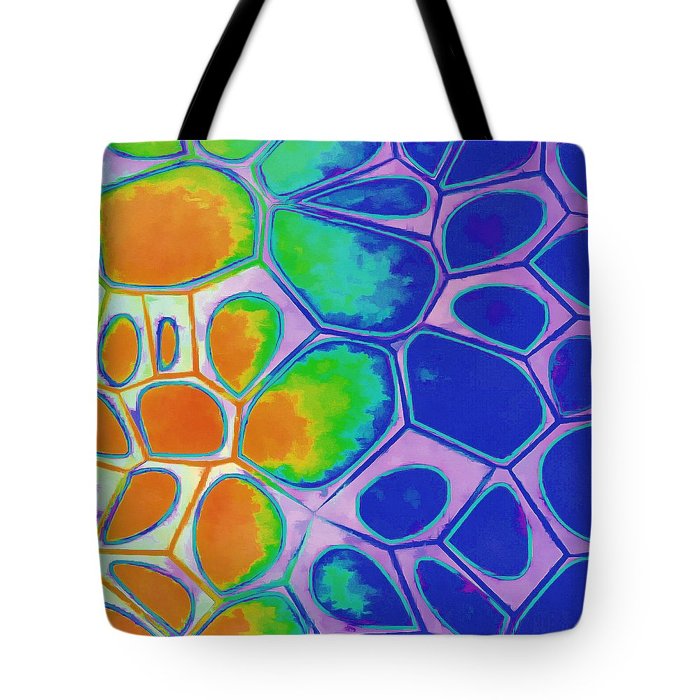 Painting Tote Bag featuring the painting Cell Abstract 2 by Edward Fielding