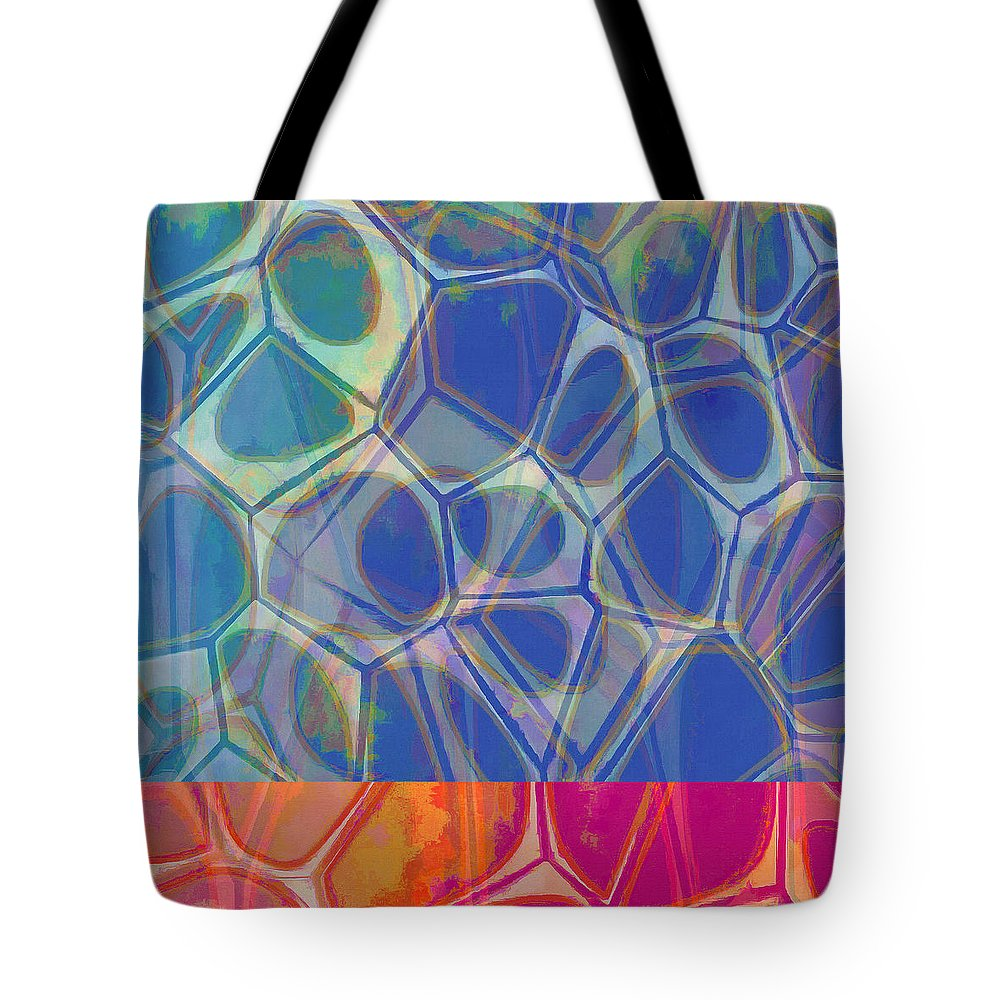 Painting Tote Bag featuring the painting Cell Abstract One by Edward Fielding