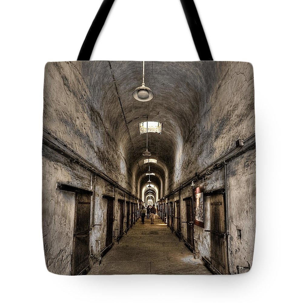Abandoned Tote Bag featuring the photograph Cell Block by Evelina Kremsdorf