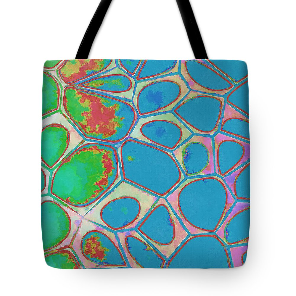 Painting Tote Bag featuring the photograph Cells Abstract Three by Edward Fielding