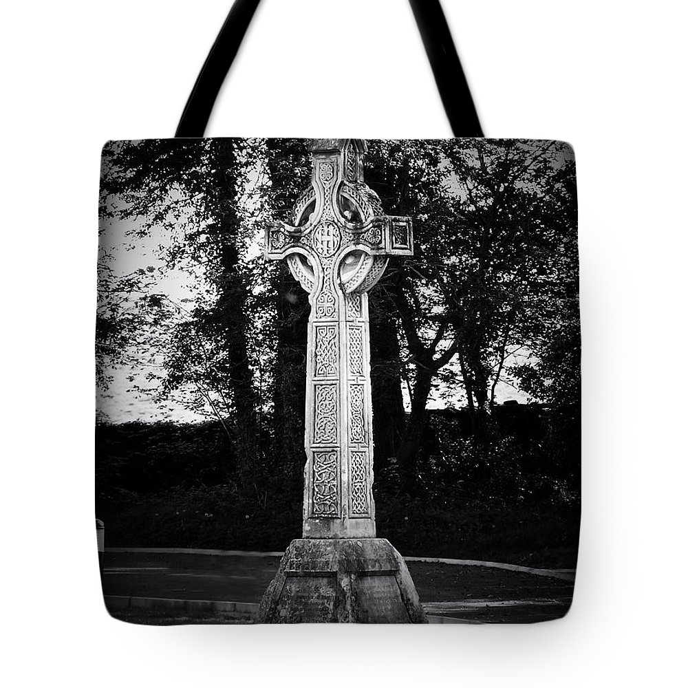 Irish Tote Bag featuring the photograph Celtic Cross In Killarney Ireland by Teresa Mucha