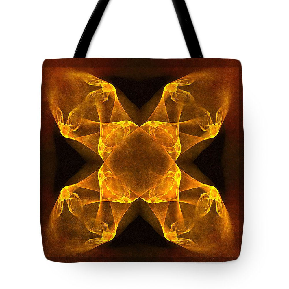Gothic Tote Bag featuring the digital art Celtic Gothica by Georgiana Romanovna