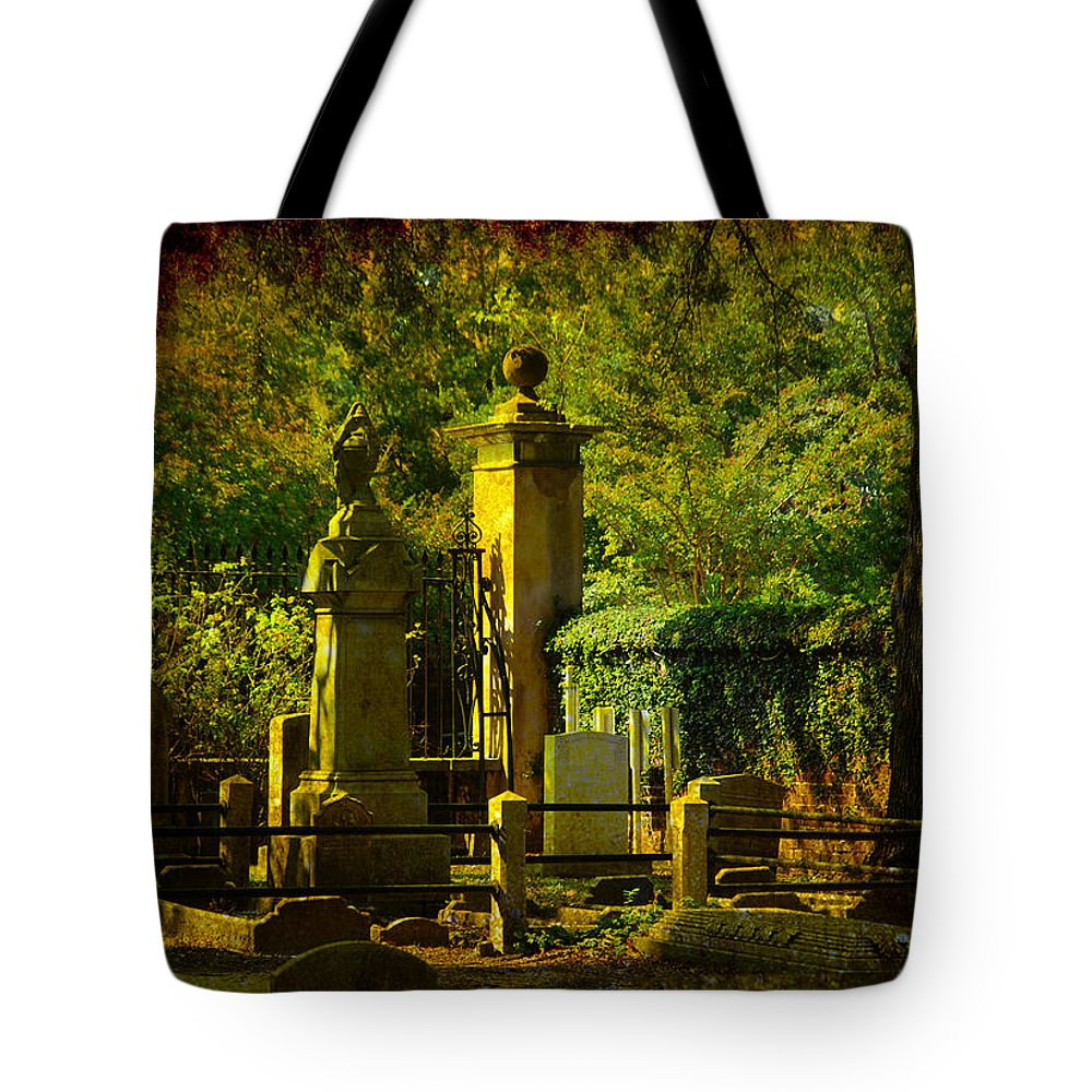 Charleston Tote Bag featuring the photograph Cemetery In Charleston by Susanne Van Hulst