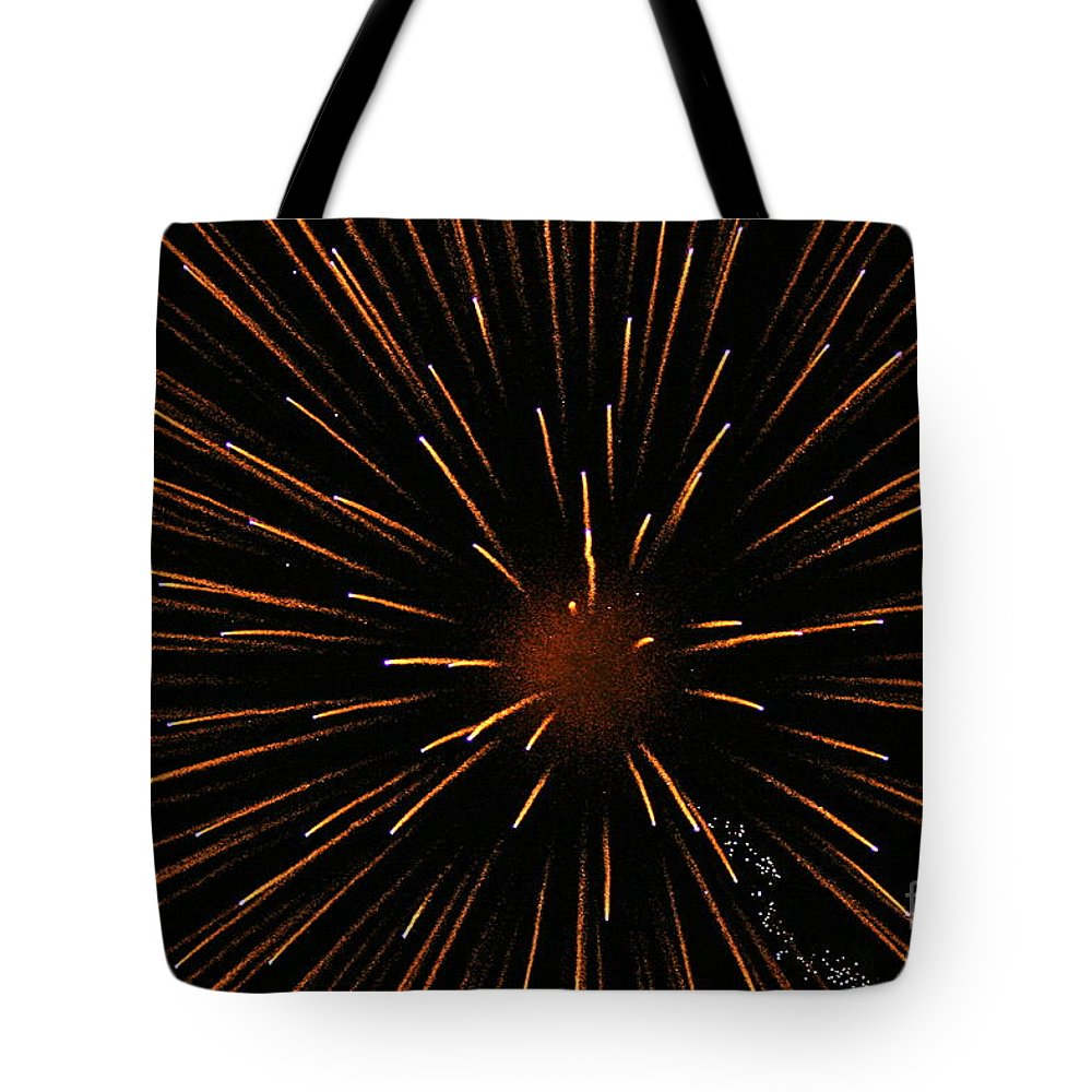 Fireworks Tote Bag featuring the photograph Center Mass by Rick Monyahan
