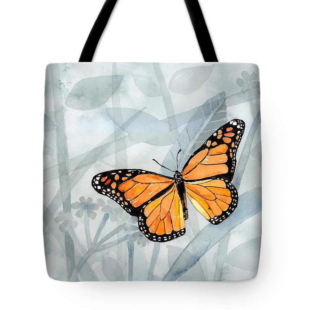 Butterfly Tote Bag featuring the painting Center Of Attention by Arline Wagner