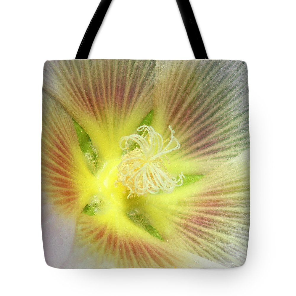 Yellow Flower Tote Bag featuring the photograph Center Sensation by Matthew Wilson
