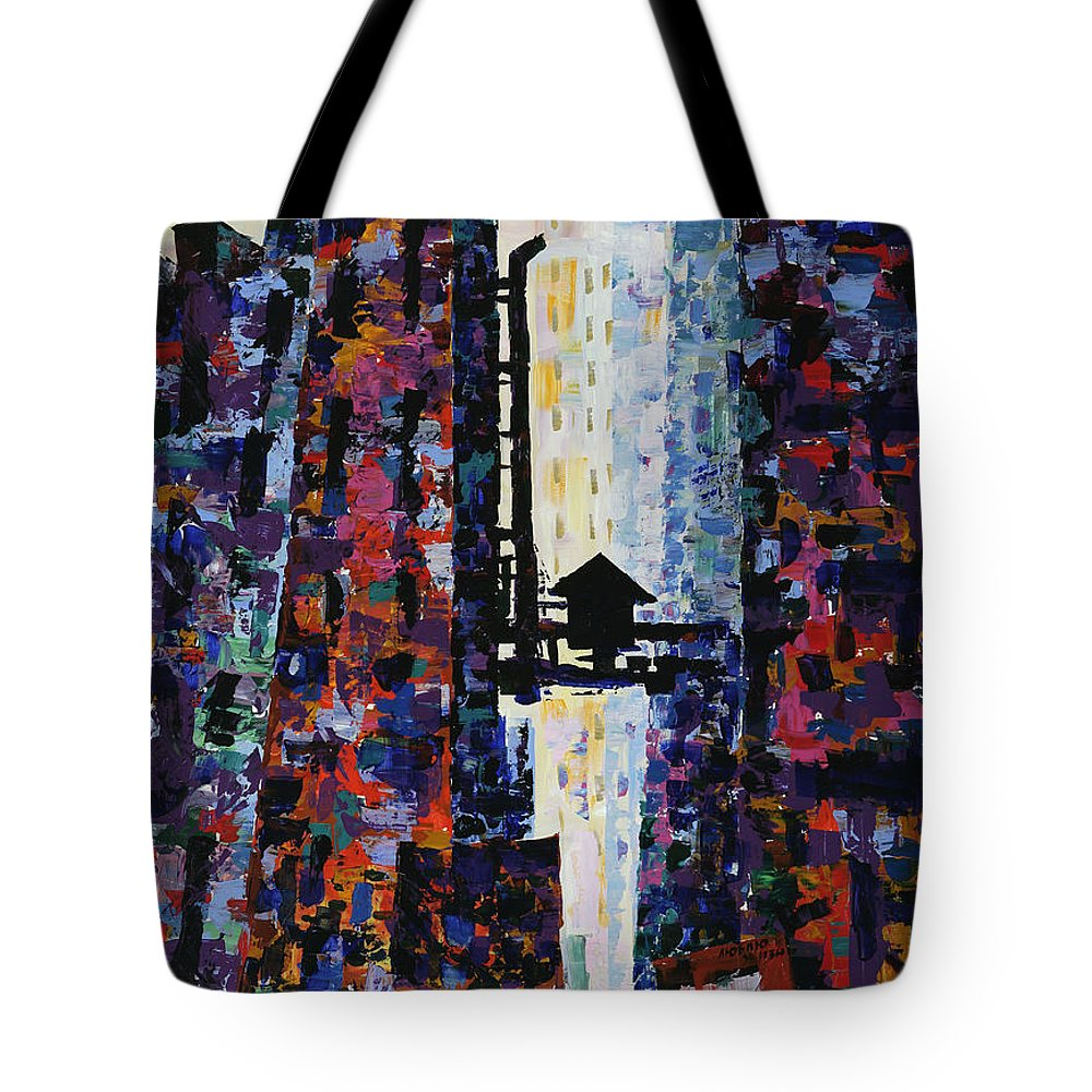 Urban Tote Bag featuring the painting Center Street by Yelena Tylkina