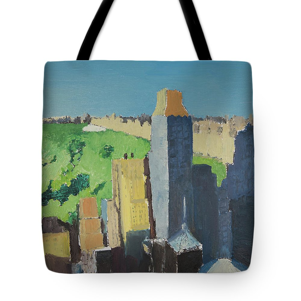 New York Tote Bag featuring the painting Central Park Nyc by Craig Newland