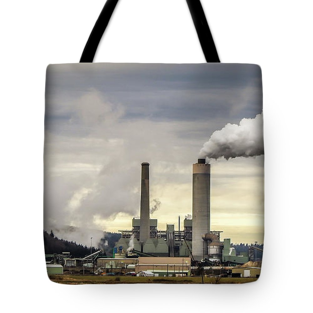 January Tote Bag featuring the photograph Centralia Power Plant by Tony Porter Photography