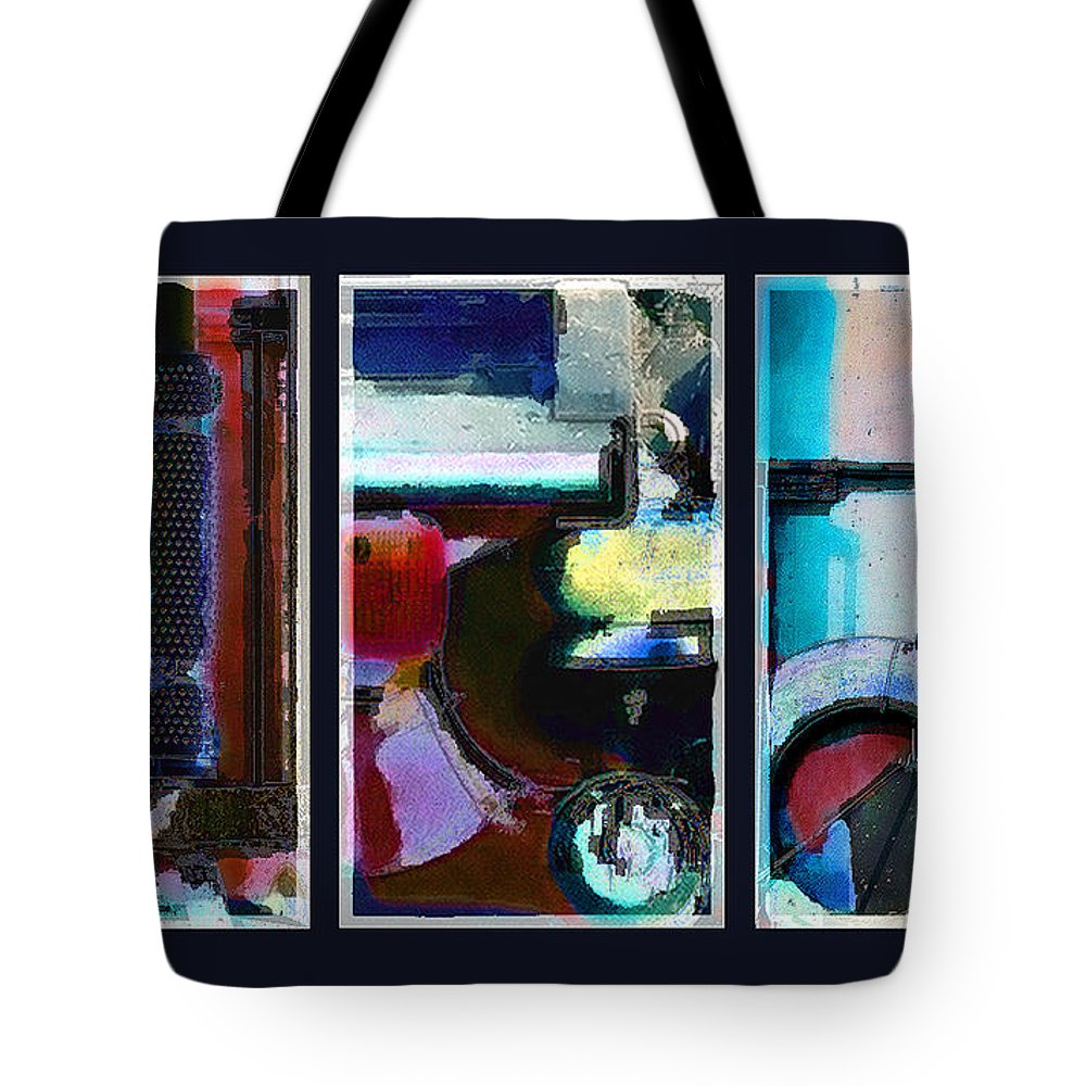 Abstract Tote Bag featuring the digital art Centrifuge by Steve Karol