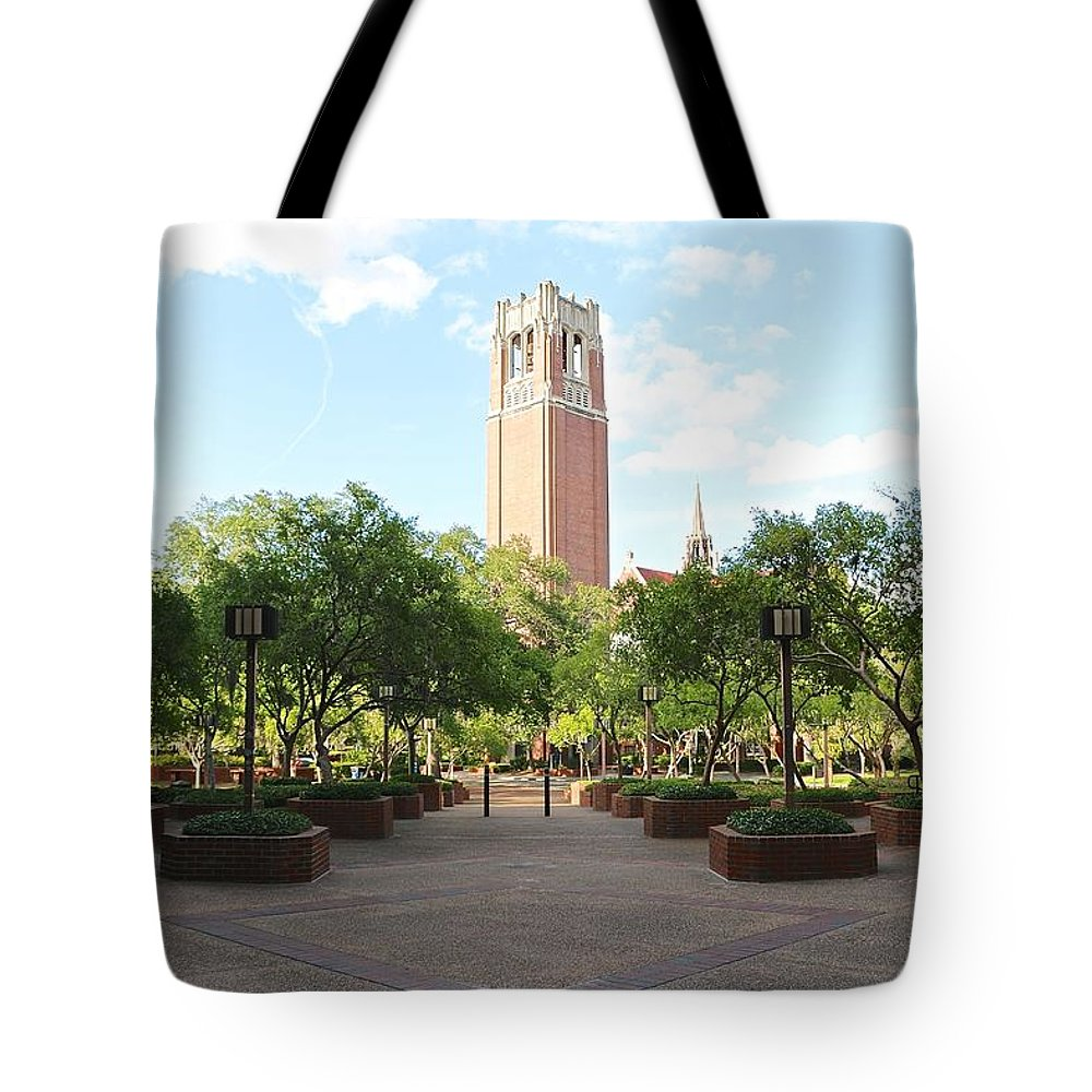 Century Tower Tote Bag featuring the photograph Century Tower by Jackie Dorr