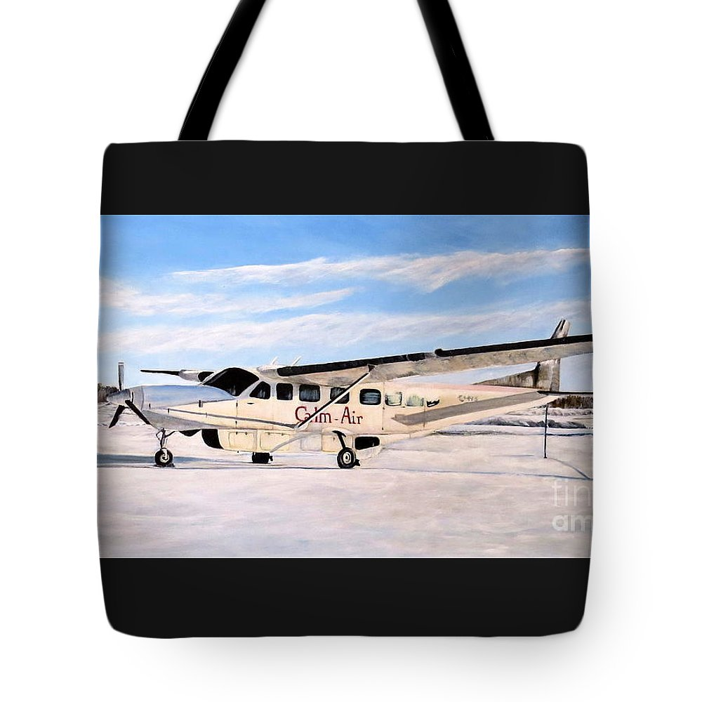 Cessna 208 Caravan Tote Bag featuring the painting Cessna 208 Caravan by Marilyn McNish
