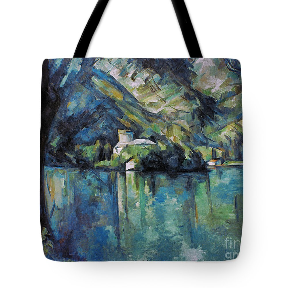 1896 Tote Bag featuring the photograph Cezanne: Annecy Lake, 1896 by Granger