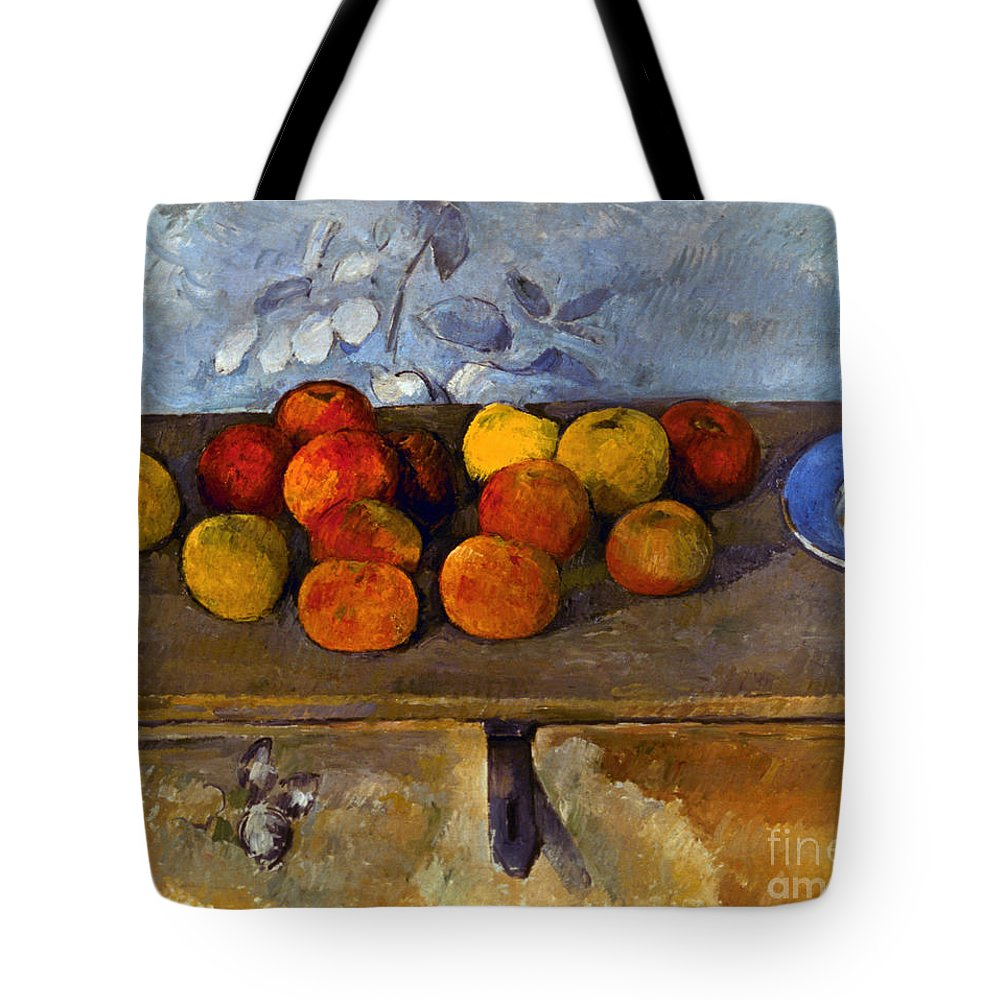 1880 Tote Bag featuring the photograph Cezanne: Apples & Biscuits by Granger