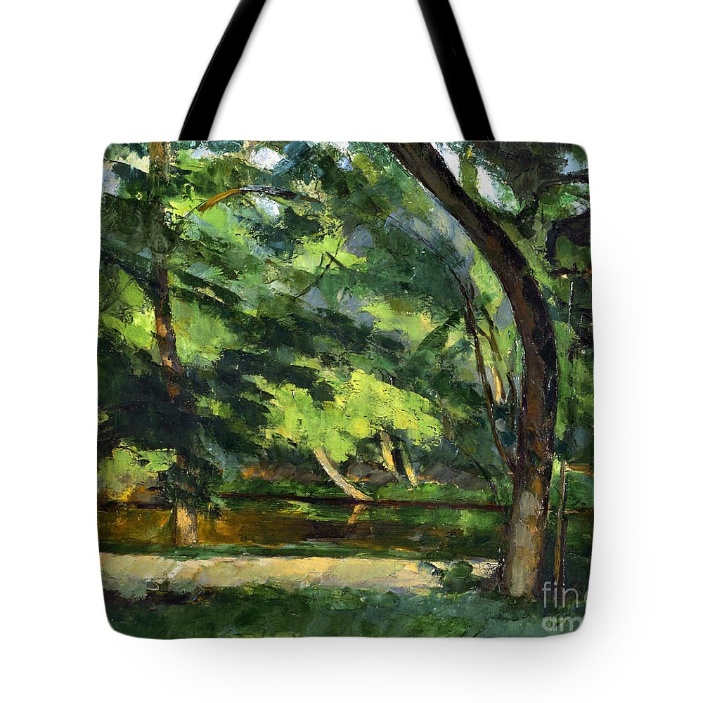 1877 Tote Bag featuring the photograph Cezanne: Etang, 1877 by Granger