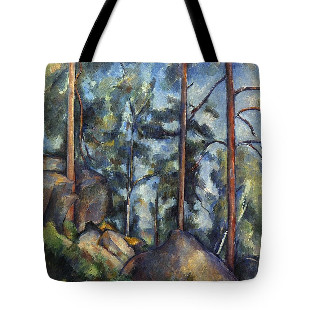 1899 Tote Bag featuring the photograph Cezanne: Pines, 1896-99 by Granger