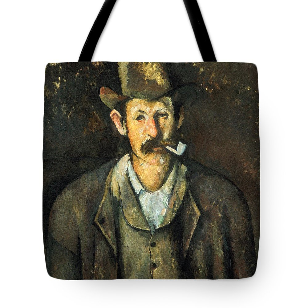1892 Tote Bag featuring the photograph Cezanne: Pipe Smoker, C1892 by Granger