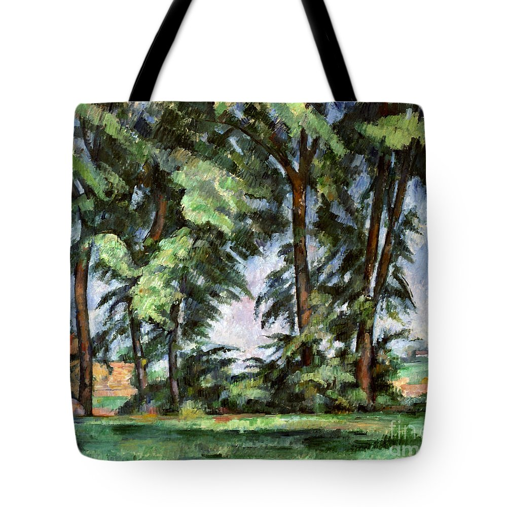 1887 Tote Bag featuring the photograph Cezanne: Trees, C1885-87 by Granger