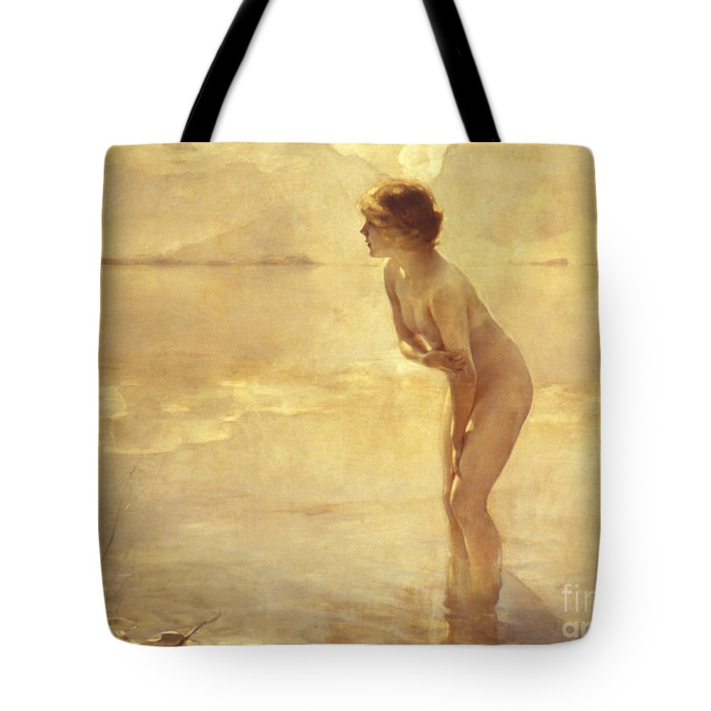 20th Century Tote Bag featuring the painting Chabas, September Morn by Paul Chabas