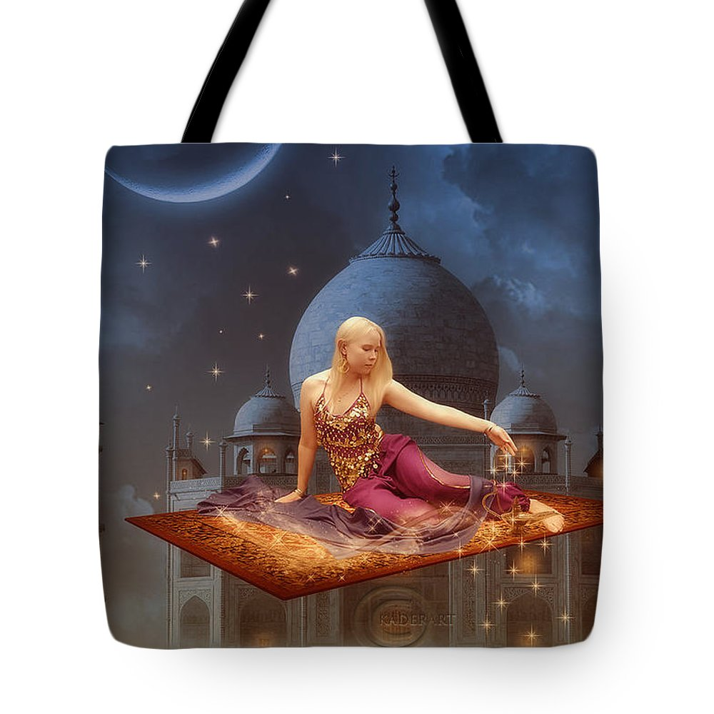 Tote Bag featuring the digital art Chahrazed by Abdelkader Bouazza