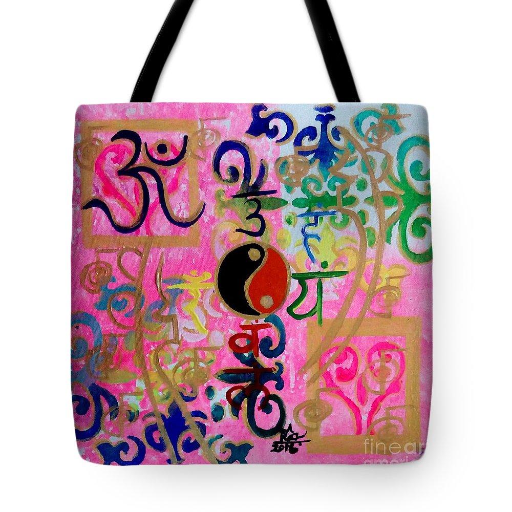 Chakra Empowerment Tote Bag featuring the painting Chakra Empowerment by Rizwana Mundewadi