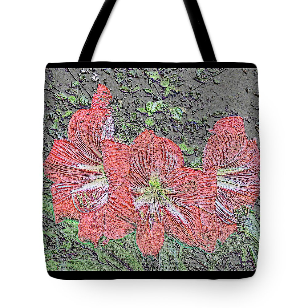 Amaryllis Tote Bag featuring the digital art Chalk It Up by Marian Bell