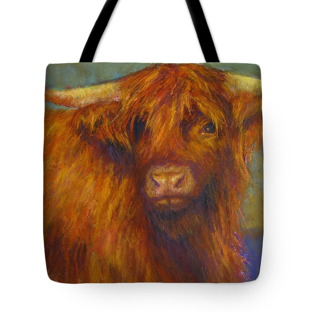Cows Tote Bag featuring the painting Chamomile by Susan Williamson