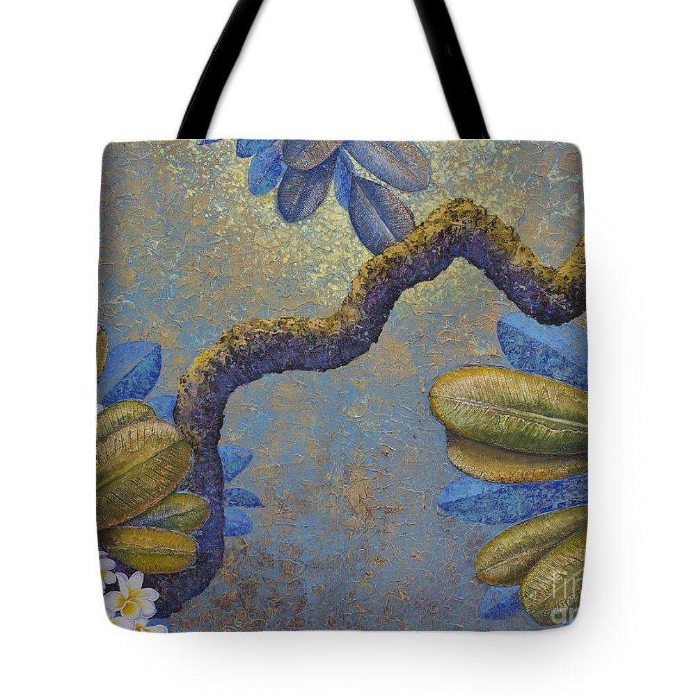 Magnolia Tote Bag featuring the painting Champa by Yuliya Glavnaya
