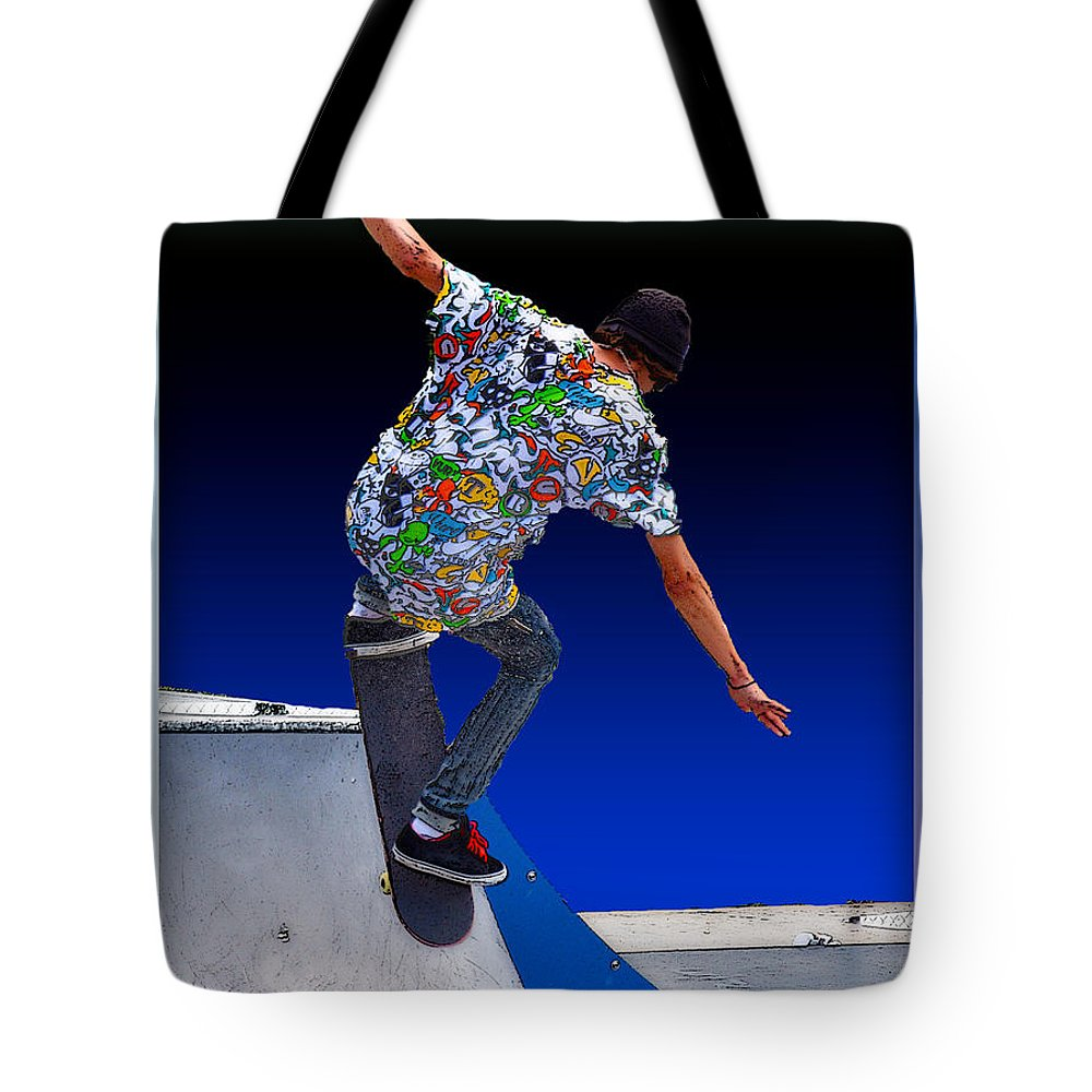 Champion Tote Bag featuring the digital art Champion Skater by Terry Anderson